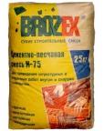 Цементно-песчаная смесь 75 БРОЗЕКС  (ЦПС) 25 кг