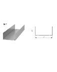 Профиль ПН 75*40 3м (Стандарт-S) 3м.